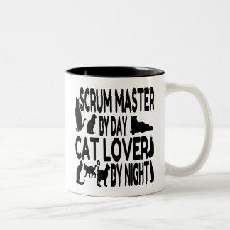 De Meester van het Scrum van de Minnaar van de kat Tweekleurige Koffiemok