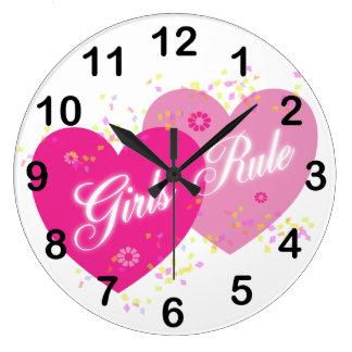 De meisjes beslissen Roze Harten Genummerd de Klok