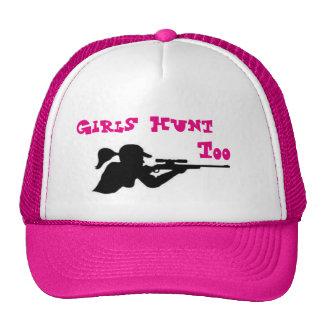 De meisjes jagen ook petten met netje