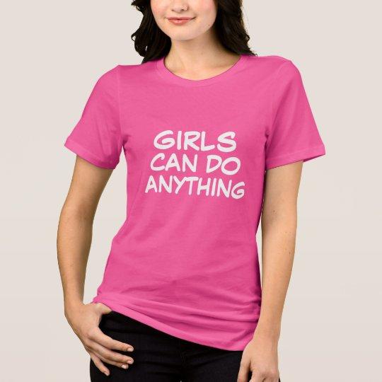 de meisjes kunnen om het even wat doen inspirerend t shirt