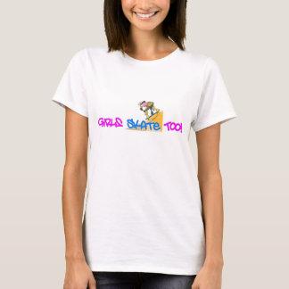 De meisjes schaatsen ook! - De T-shirt van het
