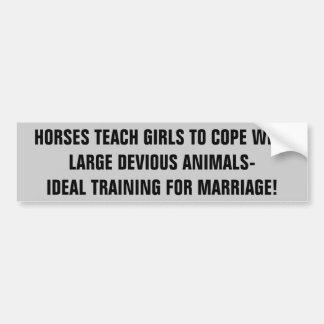 De Meisjes van de Trein van paarden voor de Bumpersticker