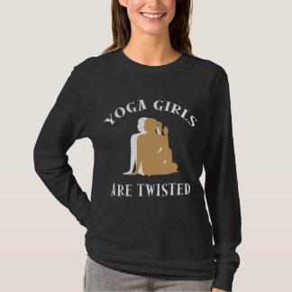 De Meisjes van de yoga zijn de Verdraaide Donkere T Shirt
