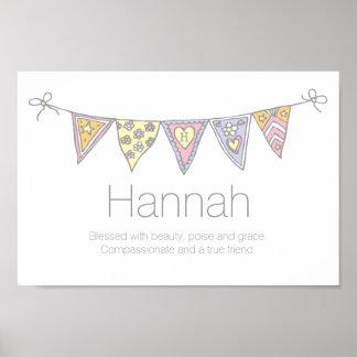 De meisjes van Hannah noemen en bedoelend bunting