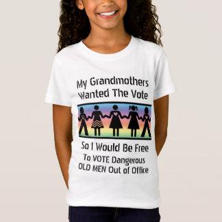 De meisjes zullen stemmen t shirt