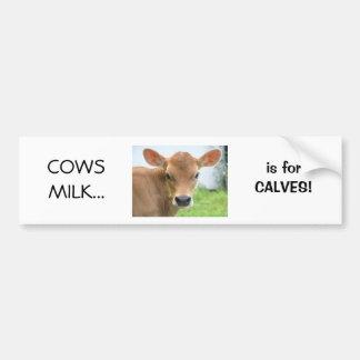 De Melk van koeien is voor ontwerp 2 van Kalveren Bumpersticker