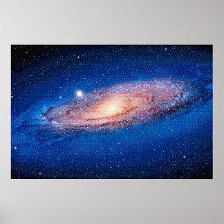 De melkweg Andromeda voor NES, het Poster van de