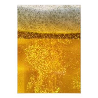 De Melkweg van het bier een Hemel Dovend Schuim 12,7x17,8 Uitnodiging Kaart
