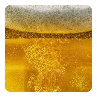 De Melkweg van het bier een Hemel Dovend Schuim 13,3x13,3 Vierkante Uitnodiging Kaart