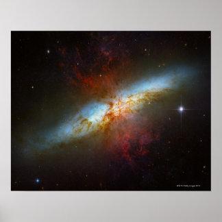 De Melkweg van Starburst M82 Poster