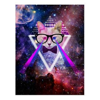 De melkwegkat van Hipster Briefkaart