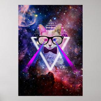 De melkwegkat van Hipster Poster