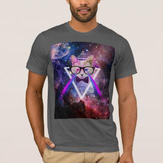 De melkwegkat van Hipster T Shirt