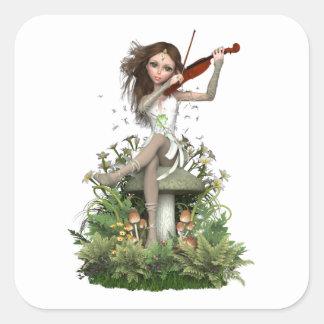 De Melodie van de Fee ~ van het Agaat van het mos Vierkante Sticker