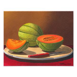 De meloenen van Charentais Foto