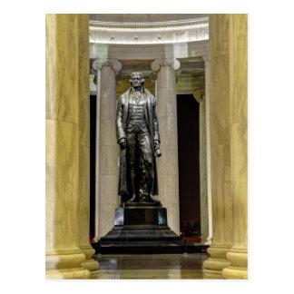 De Memorial Statue At Nacht van Thomas Jefferson Briefkaart