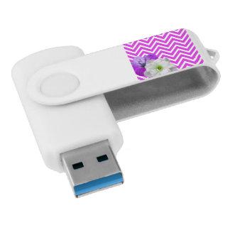 de mengelingssering van de chevronBloem Swivel USB 3.0 Stick