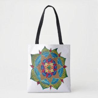 De Mening van Mandala helemaal over - het Canvas Draagtas