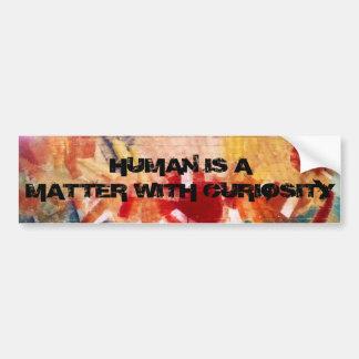 De mens is een kwestie met de Sticker van de