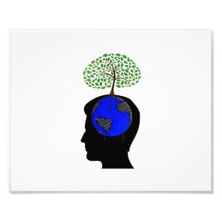 de menselijke hoofd zij blauwe boom growing.png va foto kunst