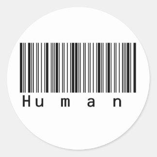 De menselijke Streepjescode tast werkelijk af! Ronde Sticker