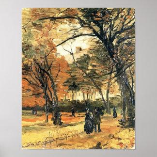 De Mensen die van het Bois de Boulogne Van Gogh Poster