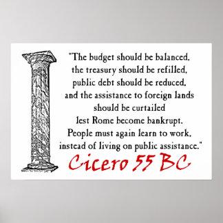 De mensen moeten werken - Cicero'n Poster