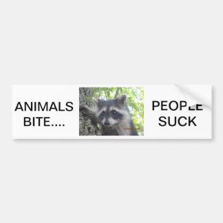 De Mensen van de Dierenbeet zuigen Bumpersticker