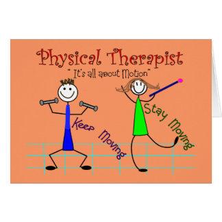 De Mensen van de Stok van de fysiotherapeut Kaart