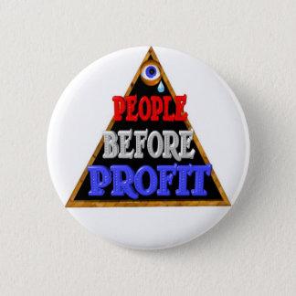 De mensen vóór winsten bezetten Wall Street Ronde Button 5,7 Cm
