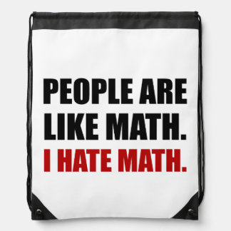De mensen zijn als de Wiskunde van de Haat Trekkoord Rugzakje
