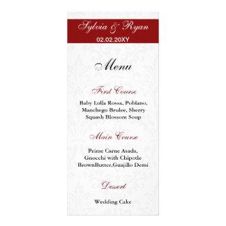 De Menu's van het Huwelijk van het damast Persoonlijke Reclamekaarten