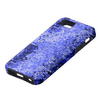 De metaal Blauwe Lovertjes kijken de Spiegels Blin Tough iPhone 5 Hoesje
