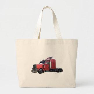 De metaal Rode Semi Vrachtwagen van Traler van de Grote Draagtas
