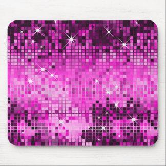 De metaal Roze Lovertjes kijken de Spiegels Bling Muismatten