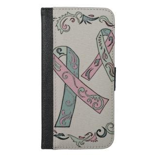 De metastatische Linten van Kanker van de Borst iPhone 6/6s Plus Portemonnee Hoesje