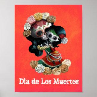 De Mexicaanse Moederlijke Liefde van het Skelet Poster