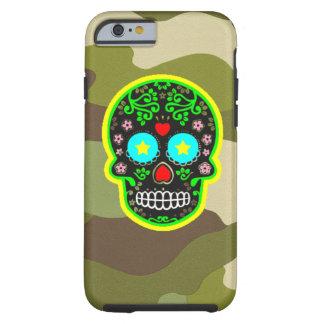 de Mexicaanse schedel van de iPhonecamouflage Tough iPhone 6 Hoesje