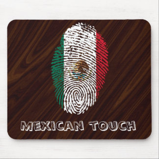 de Mexicaanse vlag van de aanrakingsvingerafdruk Muismat