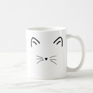 De miauw-Nificent Mok van de Kat - linkshandige