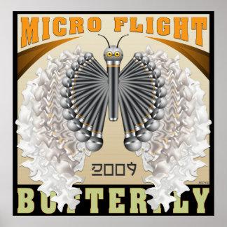 De micro- Vlinder van de Vlucht Poster