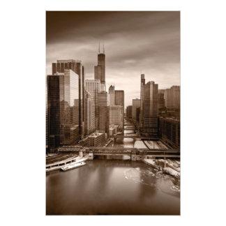 De Middag BW van het Uitzicht van de Stad van Chic Foto Afdrukken