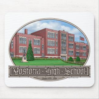 De Middelbare school Mousepad van Fostoria Muismat