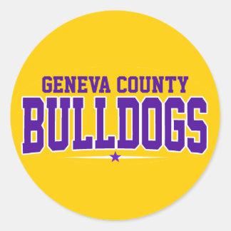 De Middelbare school van de Provincie van Genève; Ronde Sticker