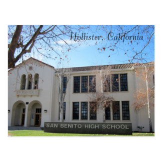 De Middelbare school van San Benito Briefkaart