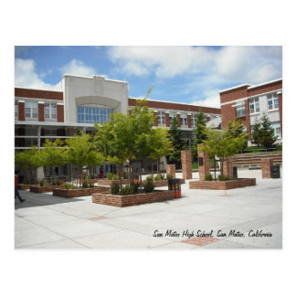 De Middelbare school van San Mateo Briefkaart