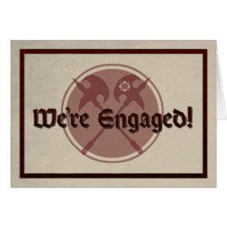 De middeleeuwse Aankondiging van het Huwelijk met Wenskaart