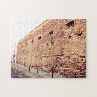 De middeleeuwse Bakstenen muur van de Vesting Puzzel