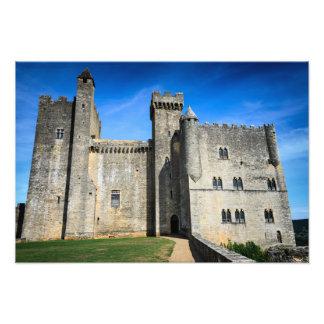 De middeleeuwse druk van de het kasteelfoto van foto
