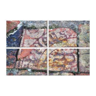 De middeleeuwse Tegels van de Vloer Canvas Bedrukken
